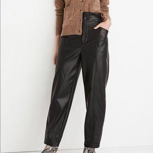 Madewell Vegan Leather Paperbag Pants 6 NWOT